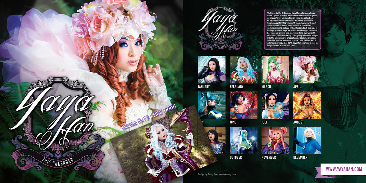 2015 Limited Edition Yaya Han Calendar by yayacosplay