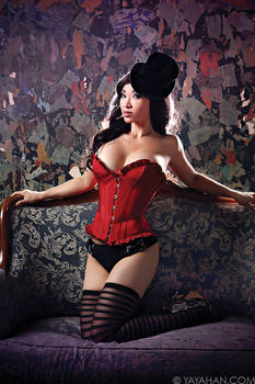Red Corset - Lingerie Shoot with Jay Tablante