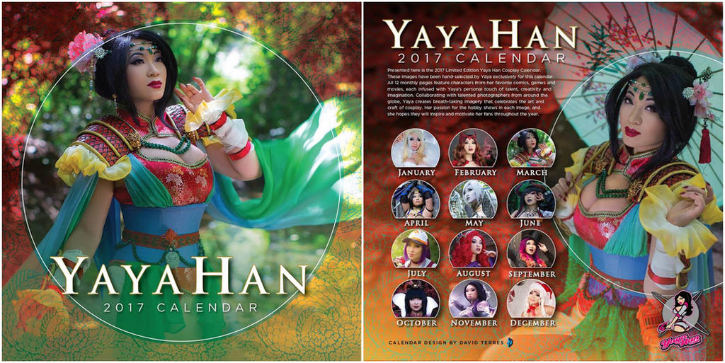 2017 Yaya Han Cosplay Calendar by yayacosplay