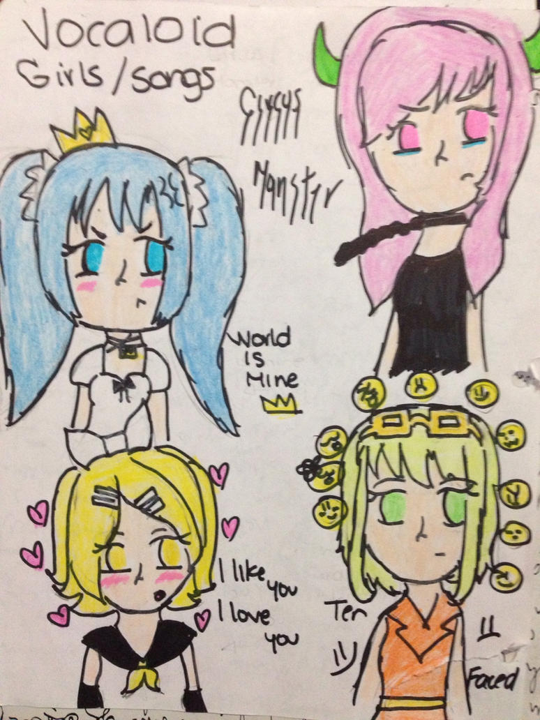 Vocaloid Girls Songs by Danny-The-Rabbit-htf