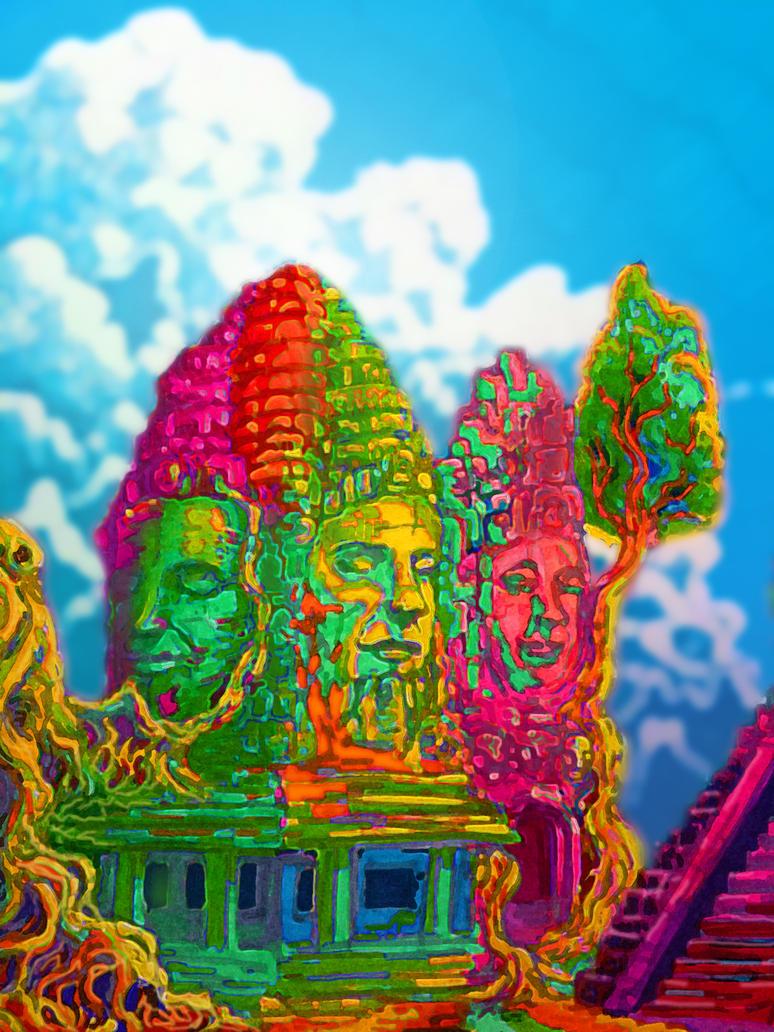 Ginsberg dreams of Angkor Wat by artserge
