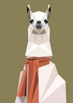 Llama lowpoly