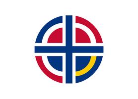 [Fictional] Nordic Union Flag by vexilografia