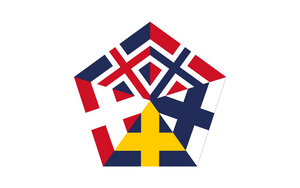 [Fictional] Nordic Union Flag V by vexilografia