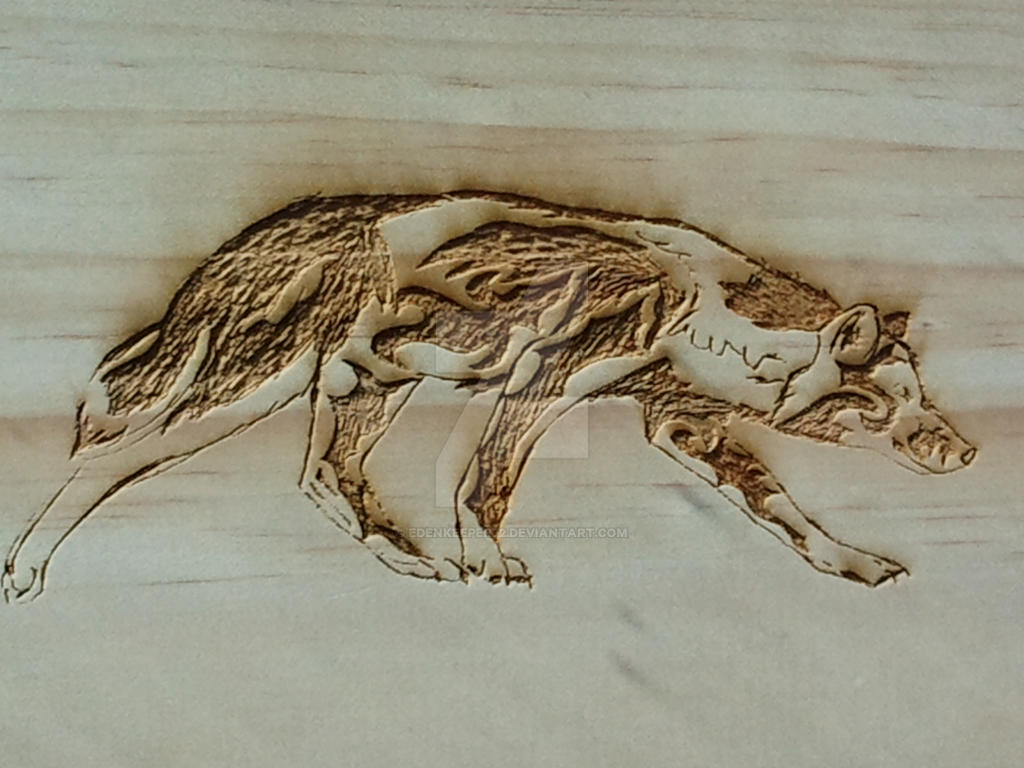 2012 Wolf Carving by EdenKeeper72