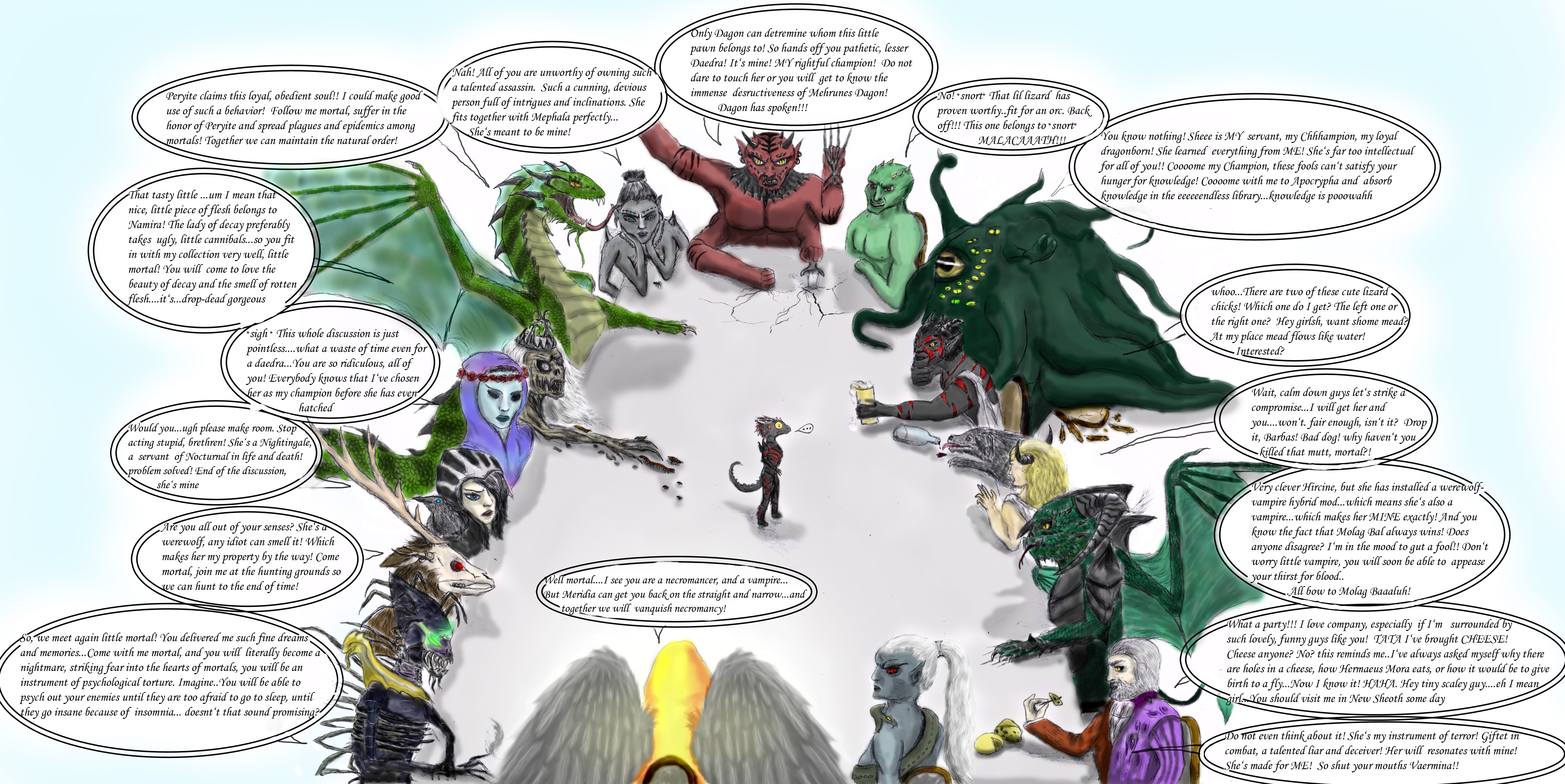 Daedric conference colored by Spynder4 on DeviantArt