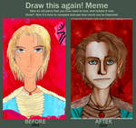 Back and Now - Draw this Again Meme by VanGold