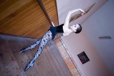 Black lace ballerina by GrimildeMalatesta