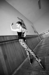 Black corset ballerina by GrimildeMalatesta