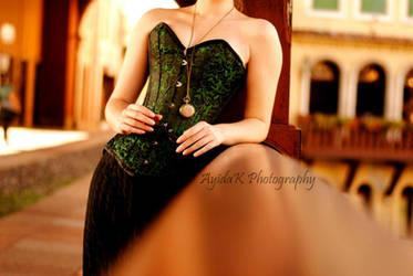 Green brocade by GrimildeMalatesta