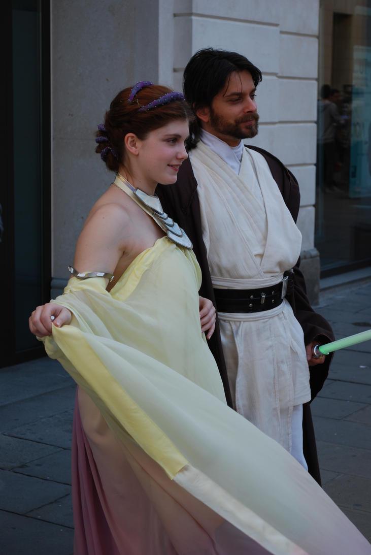 Padme and Obi Wan by GrimildeMalatesta