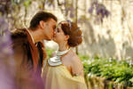Padme and Anakin kissing by GrimildeMalatesta