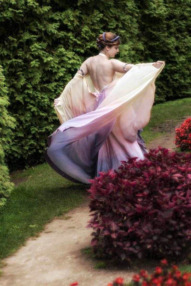 Rainbow gown by GrimildeMalatesta