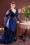 Victorian peacock dress by GrimildeMalatesta