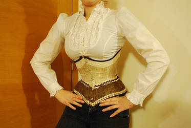 Hazelnuts and chocolate corset by GrimildeMalatesta