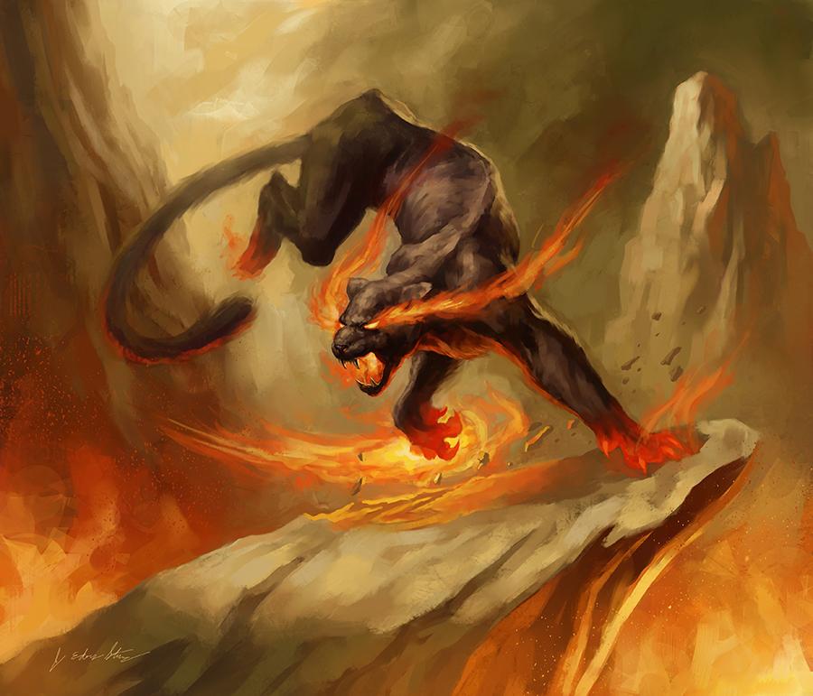 Firecat by Level20Artist