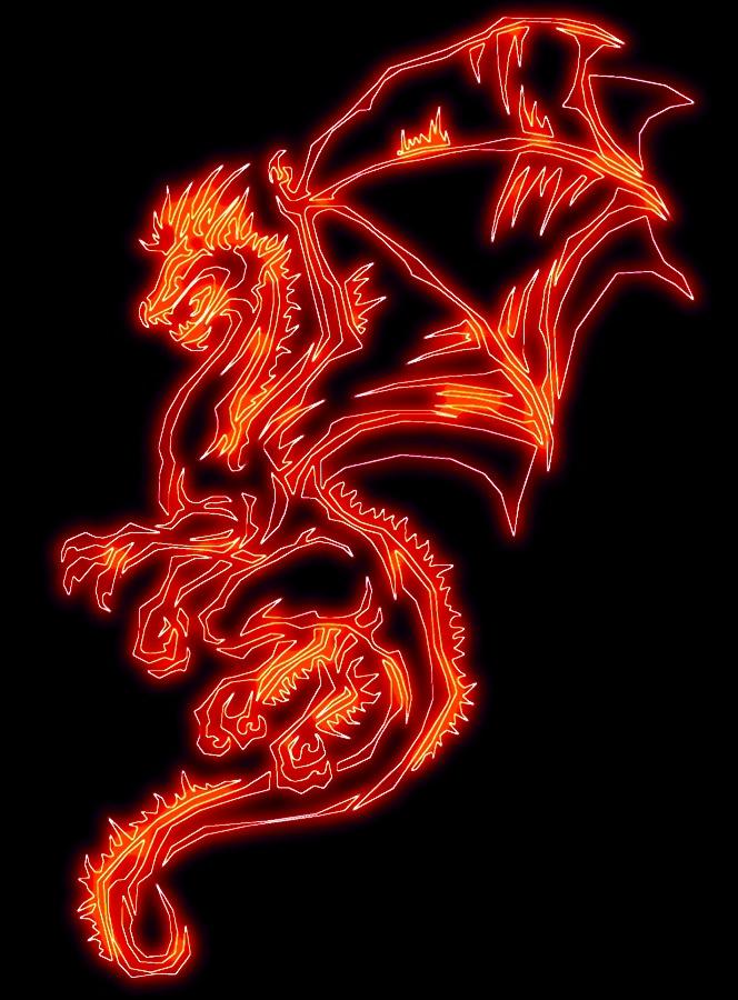 Tribal Fire Dragon by Javen