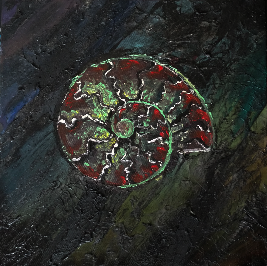 Ammonite Painting by Javen