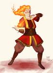 Fire Aspect Warrior - WotW LARP Concept Art by IllustratedJai