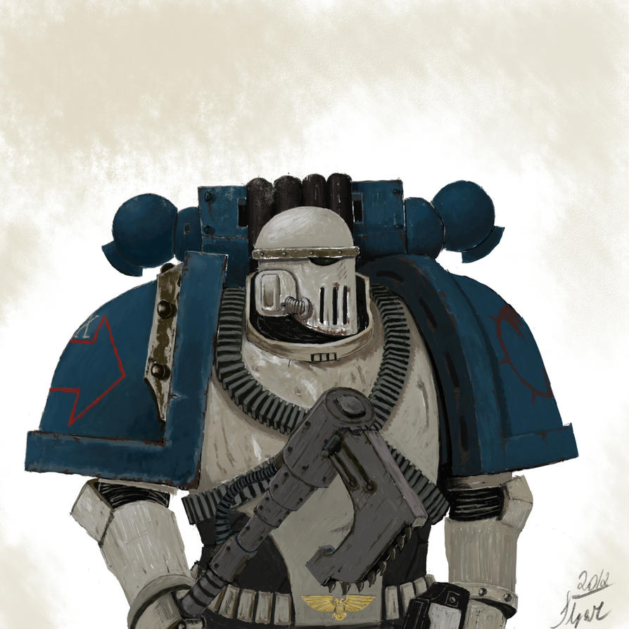 Loyal World Eaters space marine by Ilqar