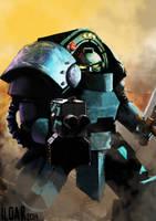 Pre Heresy Alpha Legion Tartaros terminator by Ilqar