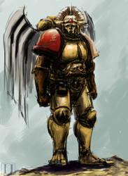 Pre Heresy Sanguinary Guard marine.Speed paint
