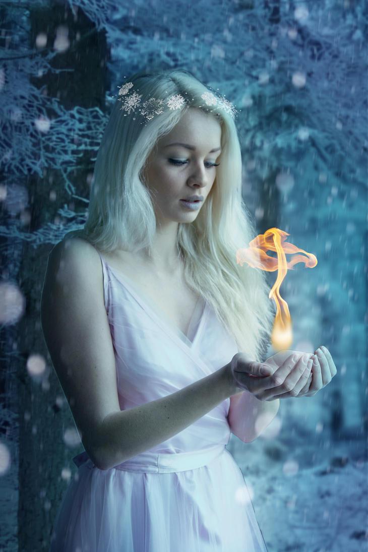 Snow fairy by SerenaDream