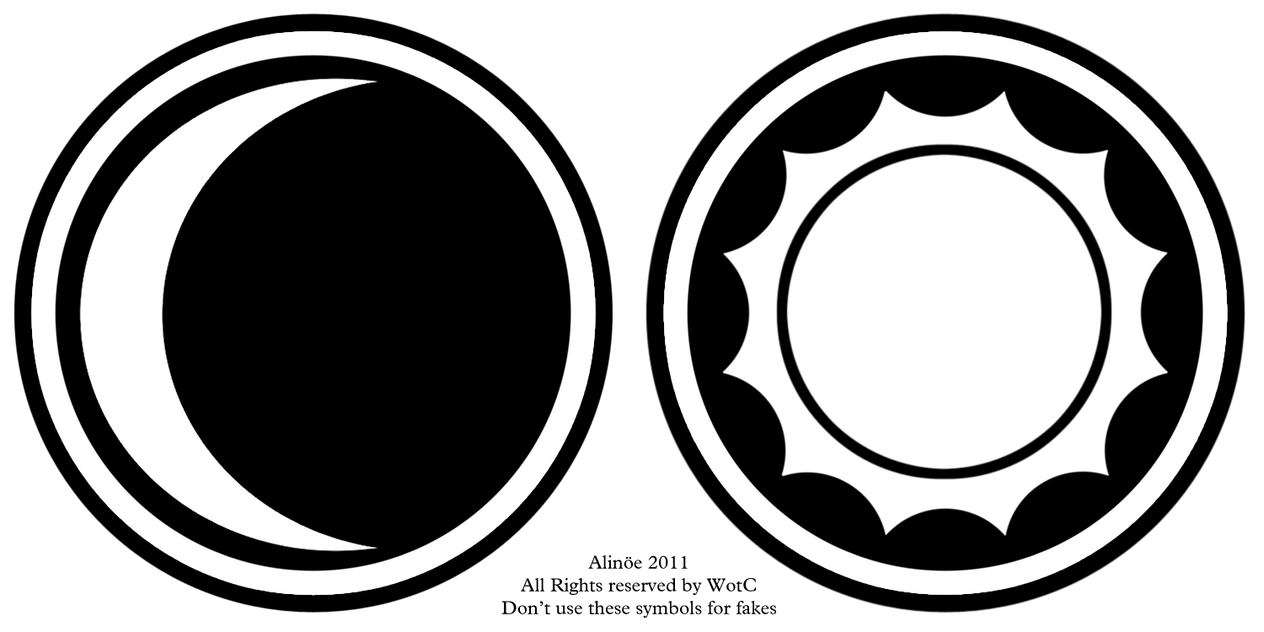 Night And Day Symbols For Double Face Cards By Greateralinoe On