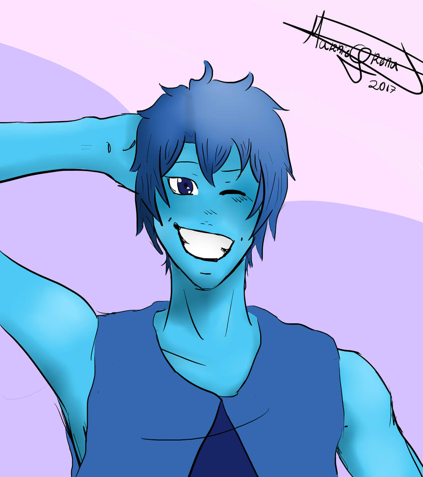 Lapis Lazuli Genderbend - Yes, he is smiling by Marnie-Grenat