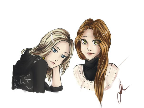 Alina and Katya by BrokenAmylee
