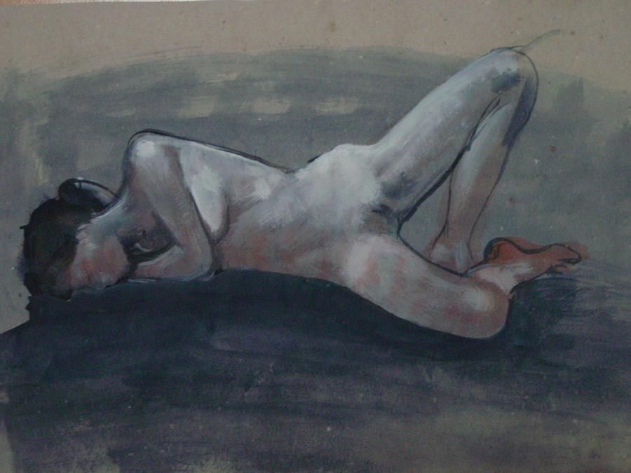 Nude model - Yvonne - 25072012 - 2 by AEnigm4