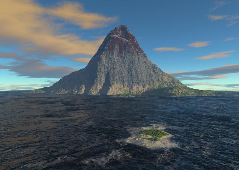 Volcanic Island 02 by bvcastilho3D on DeviantArt