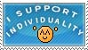 I support individuality stamp by Ikanku