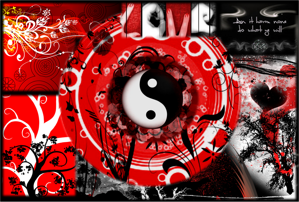 Black Red And White Wallpaper By DeafbutforMusic
