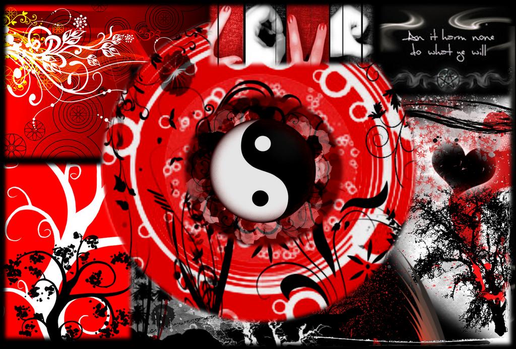 Black Red And White Wallpaper By DeafbutforMusic