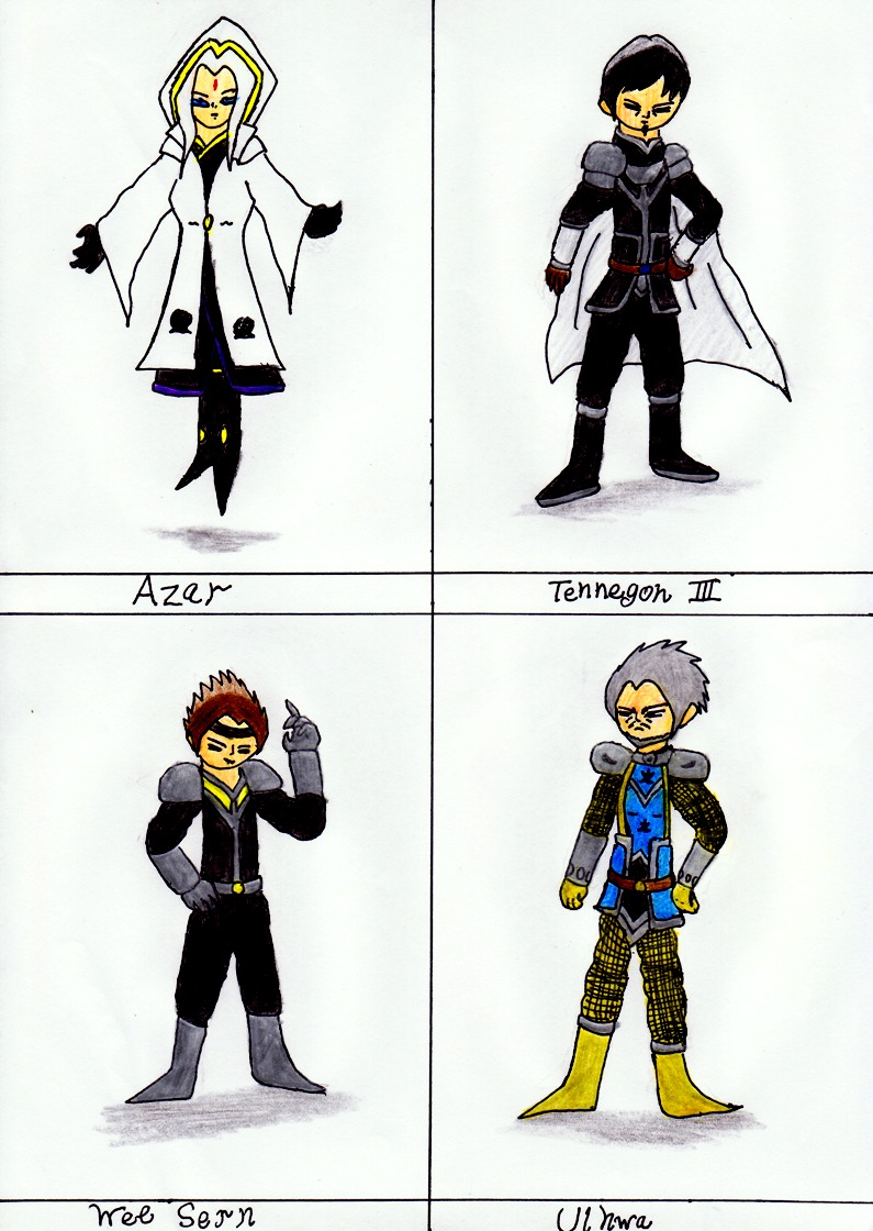 Introduce Four New Warriors by lordtrigonstar