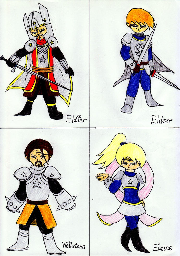 Characters From War Against Antaurus and Star 3 by lordtrigonstar