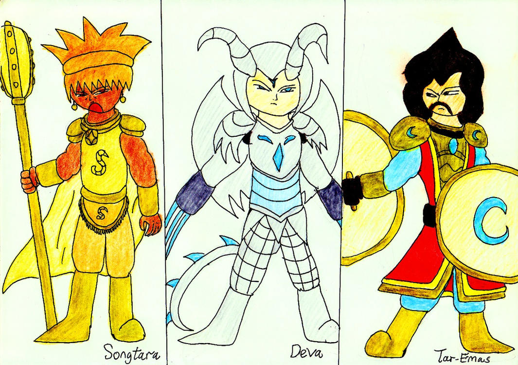 Characters From War Against Antaurus and Star 7 by lordtrigonstar