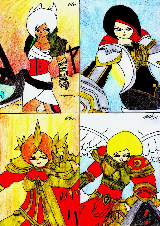 Ladies Artwork From LOL 6 by lordtrigonstar