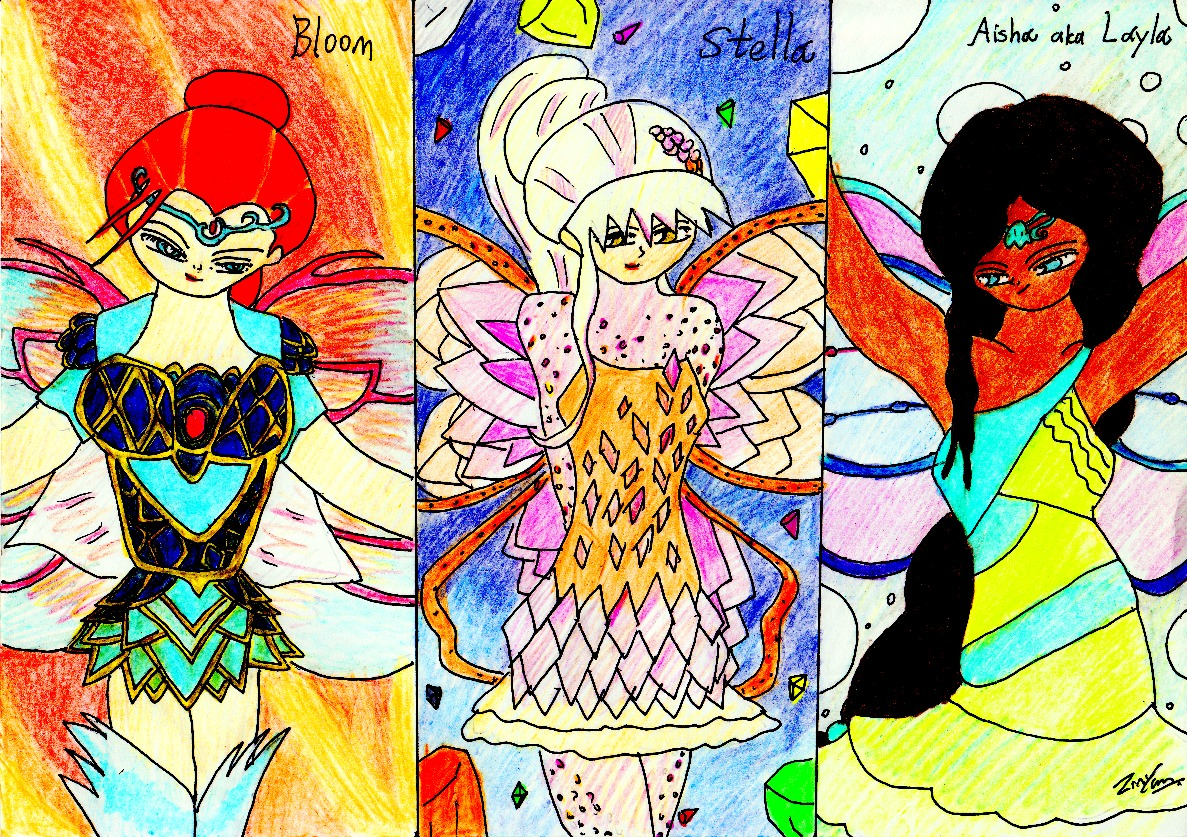 Three princess of winx member by lordtrigonstar on deviantart - Princesse winx ...