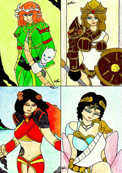 Ladies Artwork From Smite 8