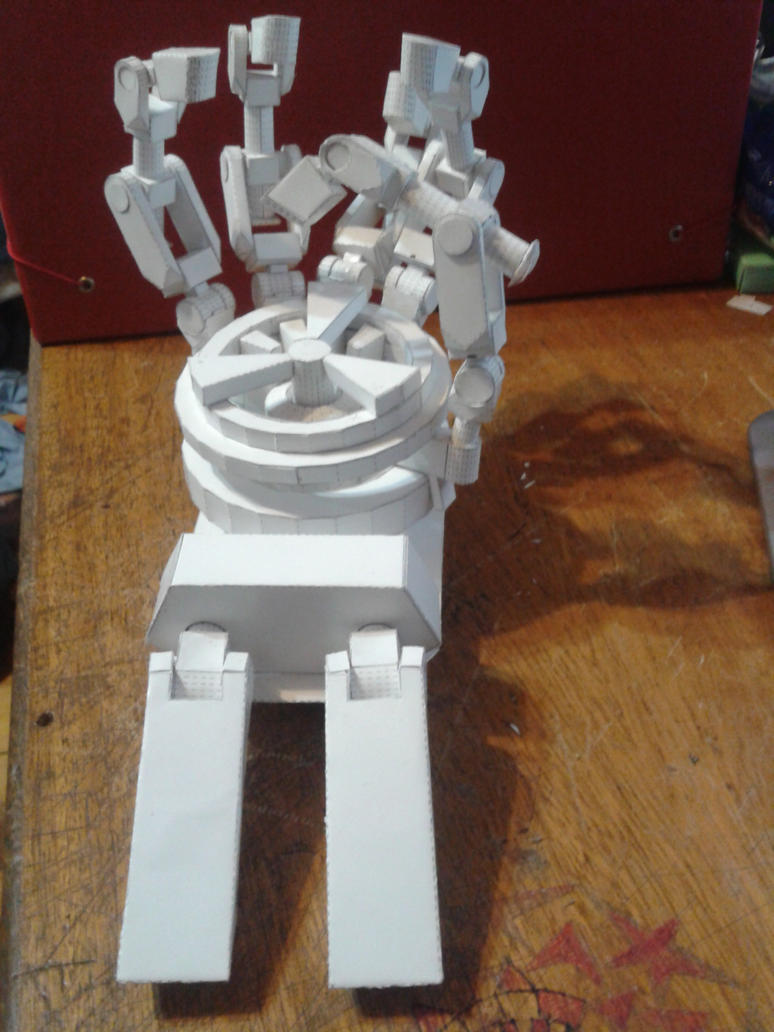 Mechanical Papercraft Hand. by Wolfrem