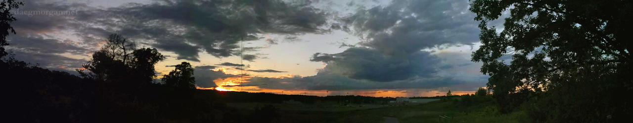 Distant Rains at Sunset