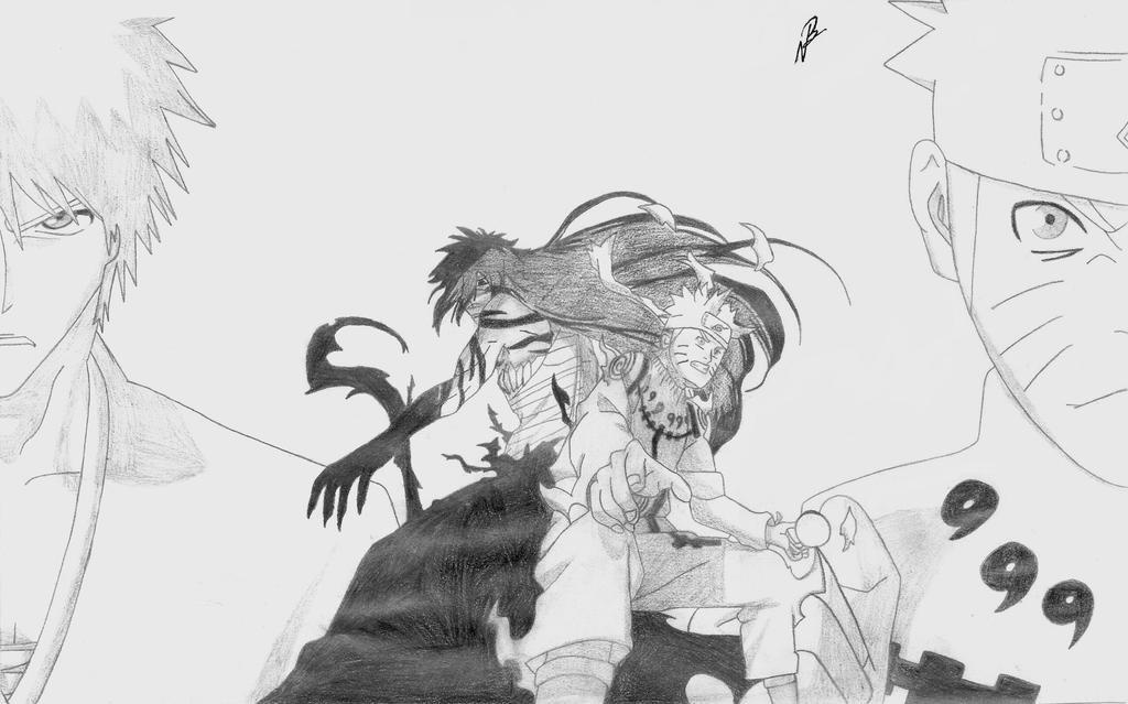 Naruto Vs Ichigo Drawing | www.pixshark.com - Images ...  Naruto