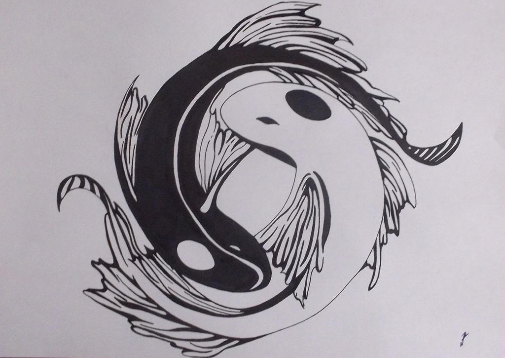 Yin yang koi fish by ryufujin4 on deviantart yin yang koi fish by ryufujin4 publicscrutiny Image collections