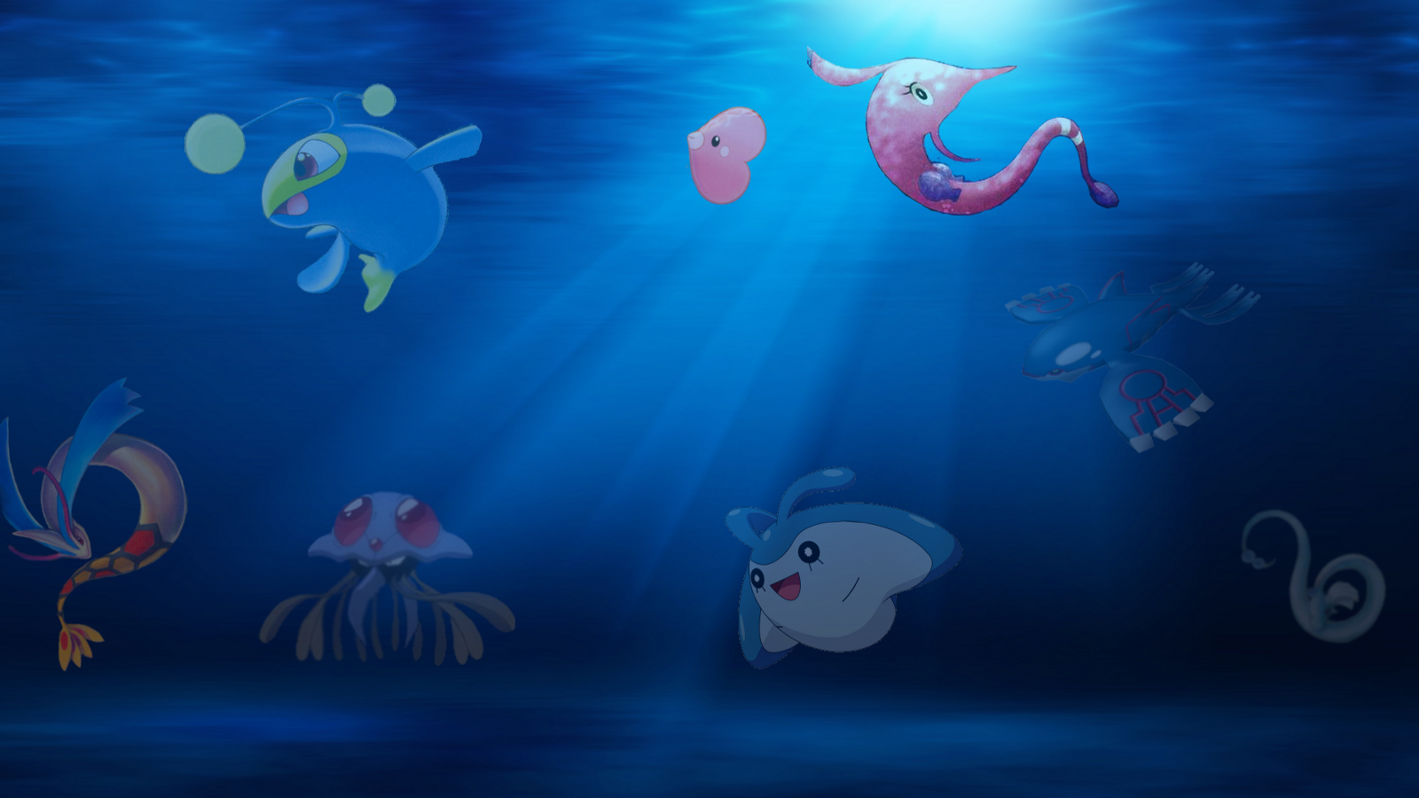 Underwater pokemon by Liriane on DeviantArt