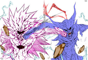 One Punch Man - Boros Vs Garou by Knight133
