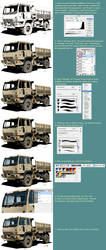 Photoshop coloring tutorial by randychen