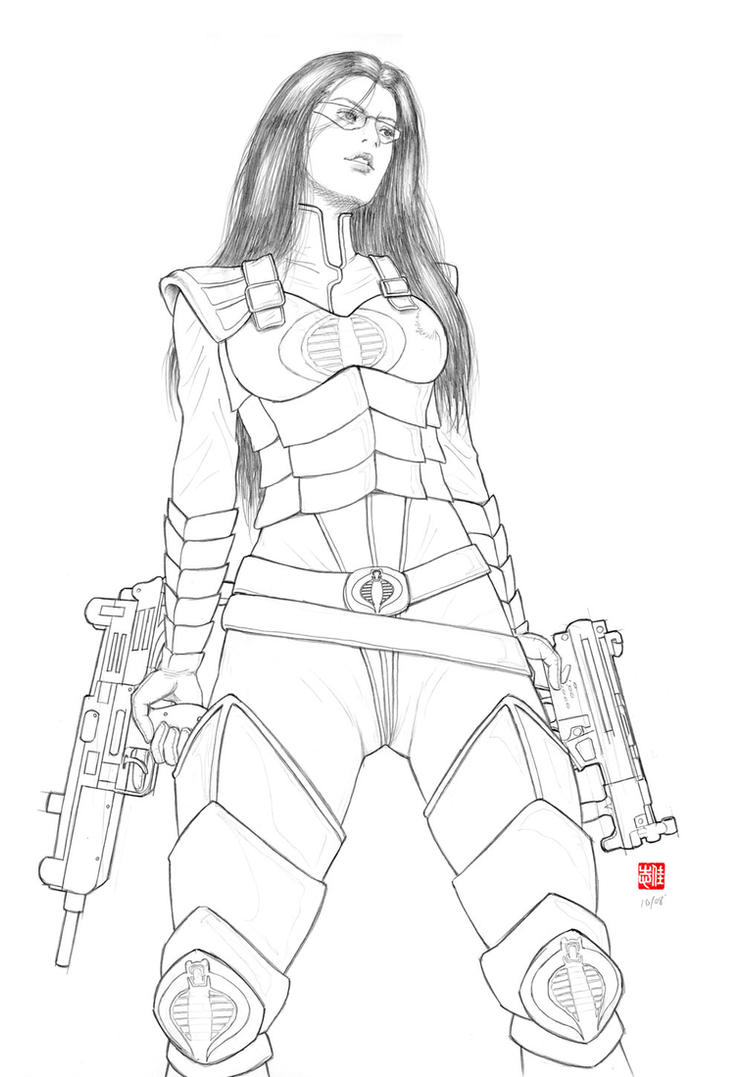 g i joe baroness line art by randychen on deviantart