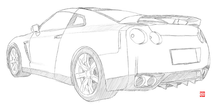 nissan gtr nismo coloring pages | Nissan R35 Gtr Coloring Coloring Pages